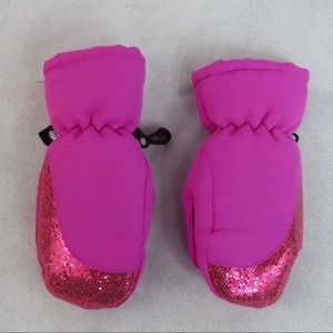 Thinsulate girls mittens hot pink